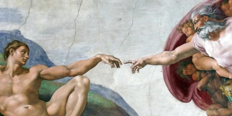 13437037 - adam creation by michelangelo